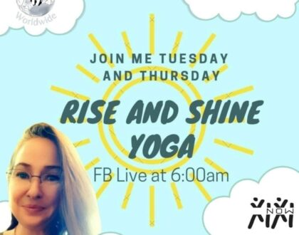 """""""Rise and Shine Yoga"""" with """"Spunky"""" on Facebook"""